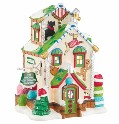 "Department 56 North Pole Village - ""The Original Ugly Sweater Co."""
