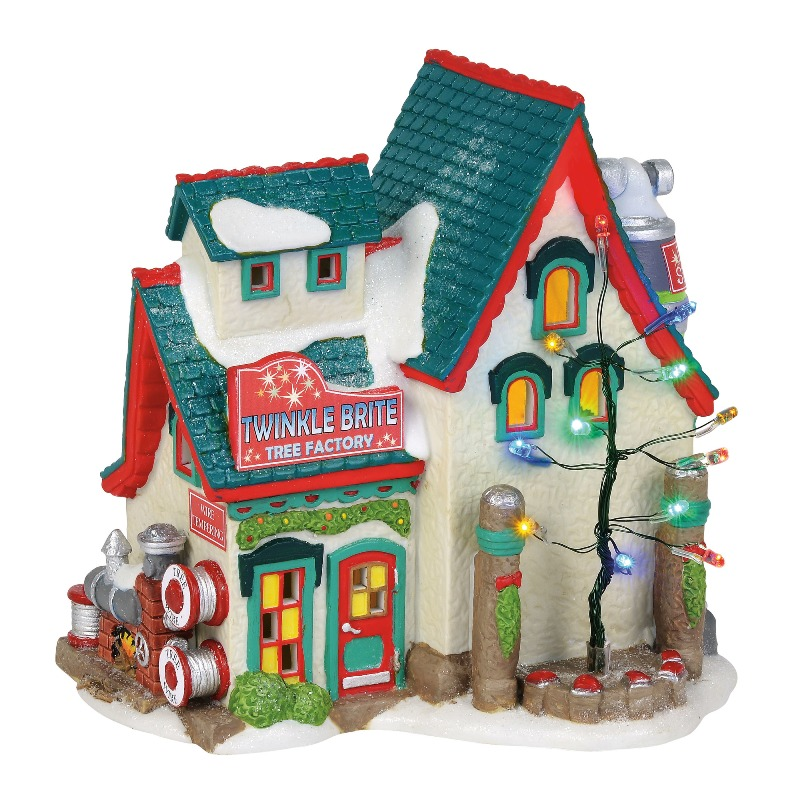 Department 56 North Pole Village - Twinkle Brite Tree Factory 2018