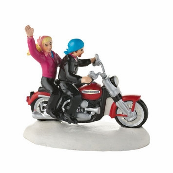 "Department 56 Snow Village Accessory - ""Always A Fun Time On A  Harley�"""