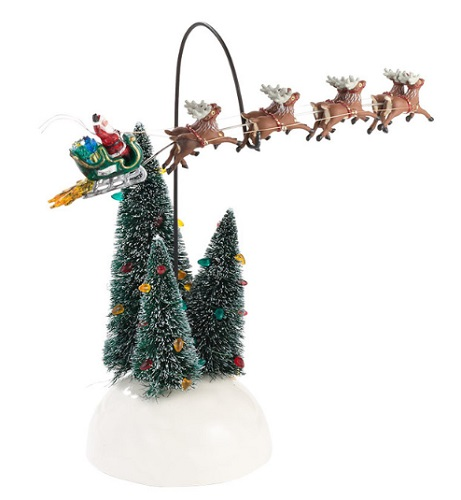 "Department 56 Snow Village  Accessory - ""Animated Flaming Sleigh"""