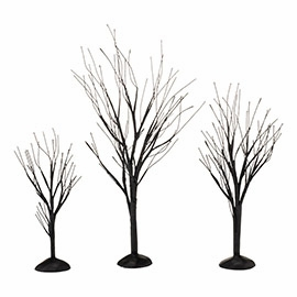 "Department 56 Snow Village Accessory  - ""Bare Black Trees"" - Set of 3"