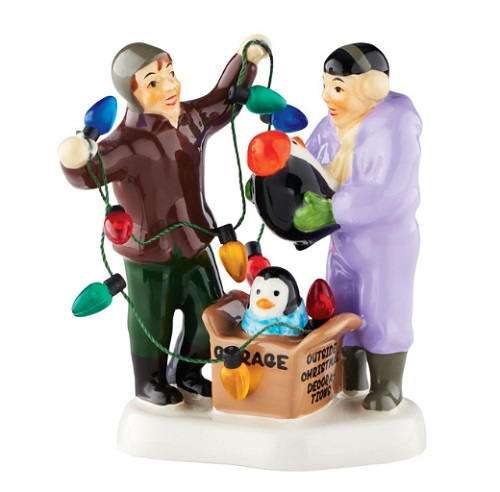 "Department 56 Snow Village Accessory - ""Black & White With Joy All Over"""