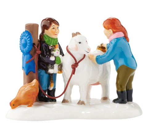"Department 56 Snow Village Accessory - ""Blue Ribbon Christmas"""