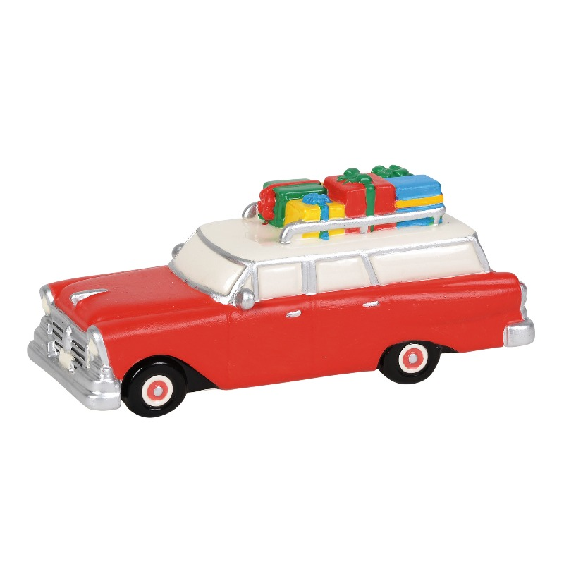 """Department 56 Snow Village Accessory- """"Family Wagon"""" 2018"""