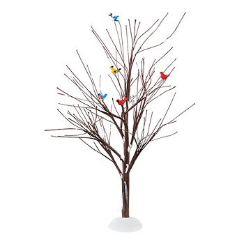 """Department 56 Snow Village Accessory - """"Feathered Friends, Tree"""""""