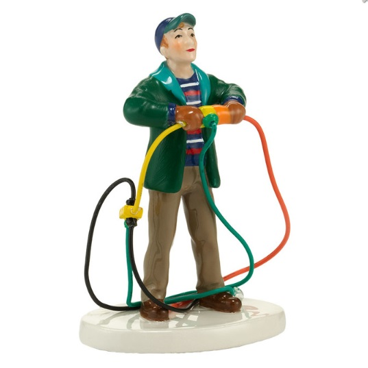 "Department 56 Snow Village Accessory  - ""Fire It Up Dad"""