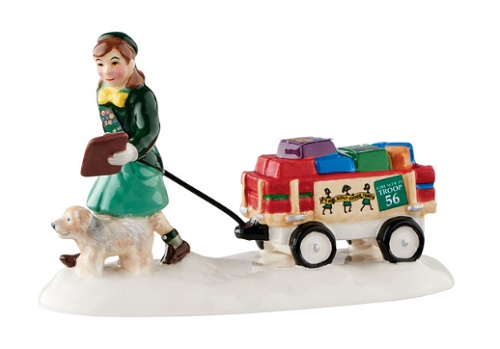 "Department 56 Snow Village Accessory - ""Girl Scout Cookie Time"""