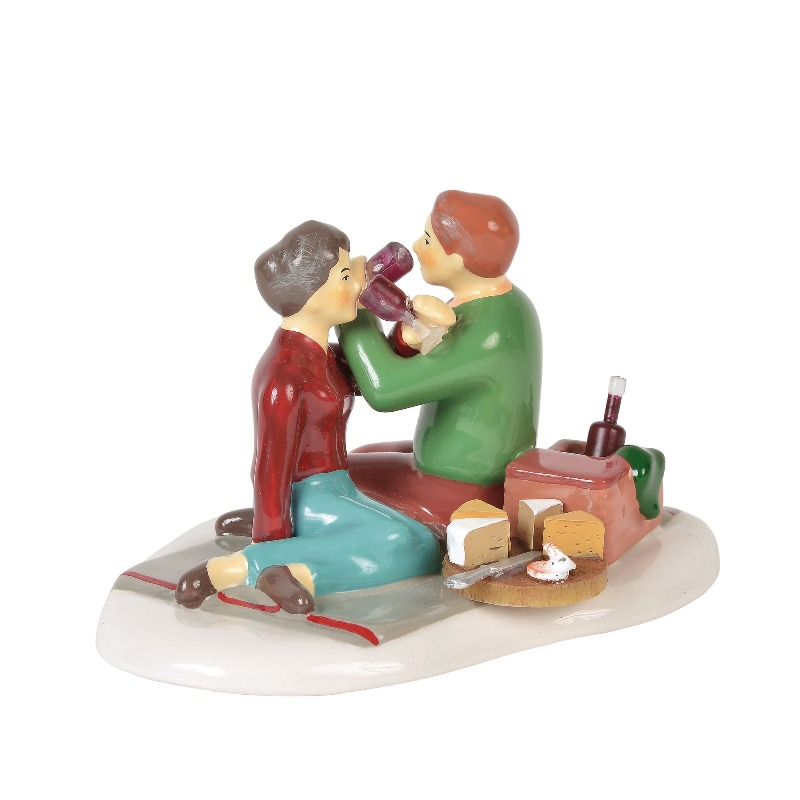 """Department 56 Snow Village Accessory- """"Great Wine Great Company"""" 2018"""