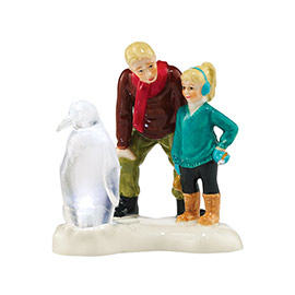 "Department 56 Snow Village Accessory - ""Ice Sculptor In The Making"""