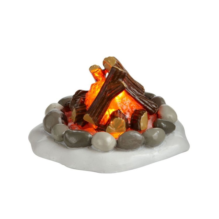 "Department 56 Village Accessory - ""Lit Fire Pit"""
