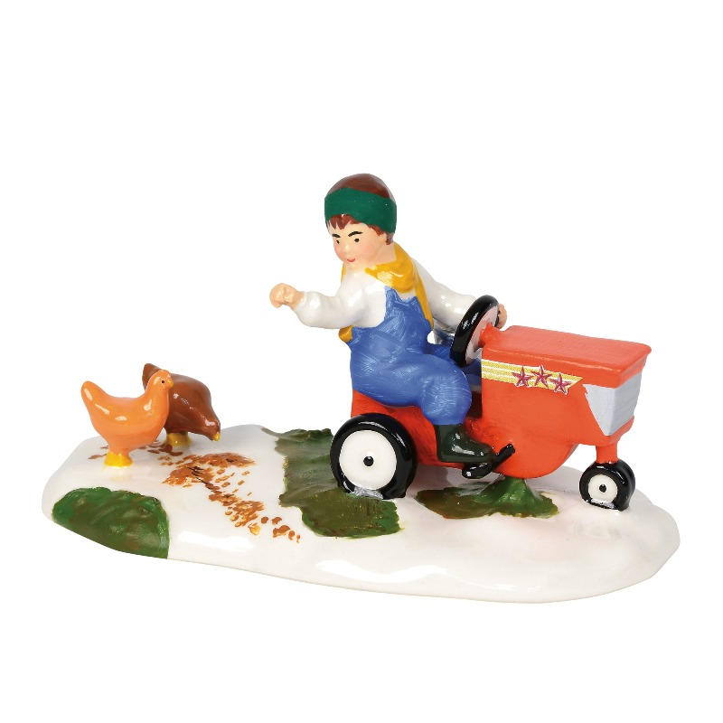 """Department 56 Snow Village Accessory- """"Morning Chores"""" 2018"""