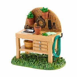 "Department 56 Snow Village Accessory - ""My Garden Potting Bench"""