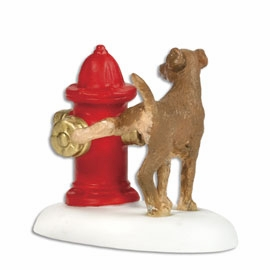 "Department 56 Snow Village Accessory  - ""Paws And Refresh"""