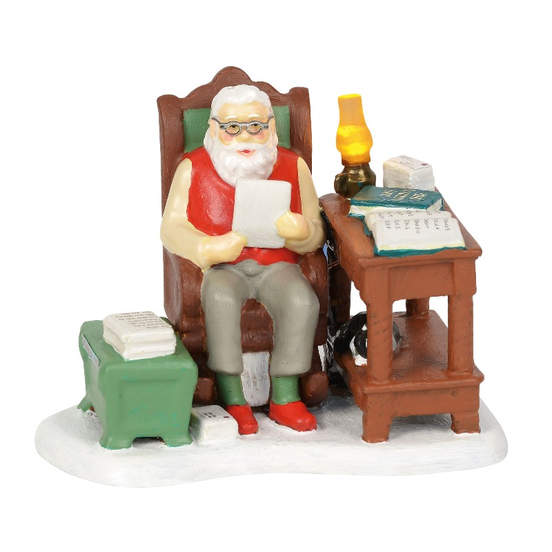 "Department 56 Snow Village Accessory- ""Santa Comes To Town"" 2018"