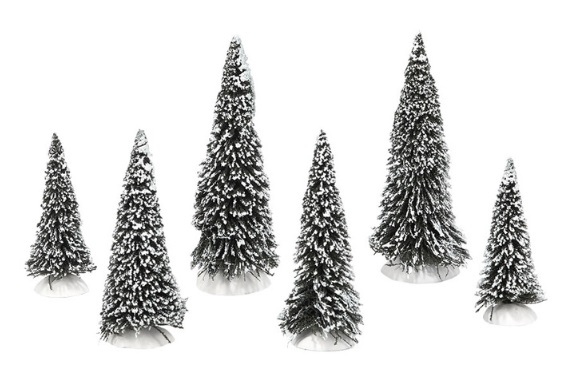 "Department 56 Snow Village Accessory - ""Snow Covered Pines"""