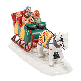 "Department 56 Snow Village Accessory - ""Snow Village Sleigh Ride"""