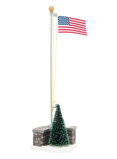 "Department 56 Snow Village Accessory - ""Stars And Stripes"""