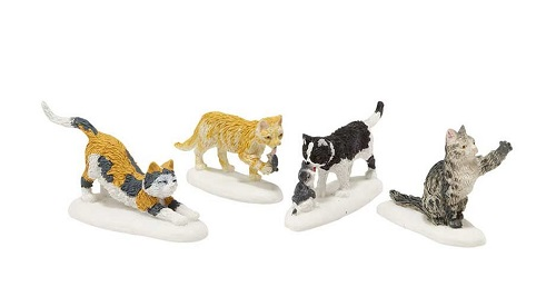 "Department 56 Snow Village Accessory  - ""Stray Cat Strut"""