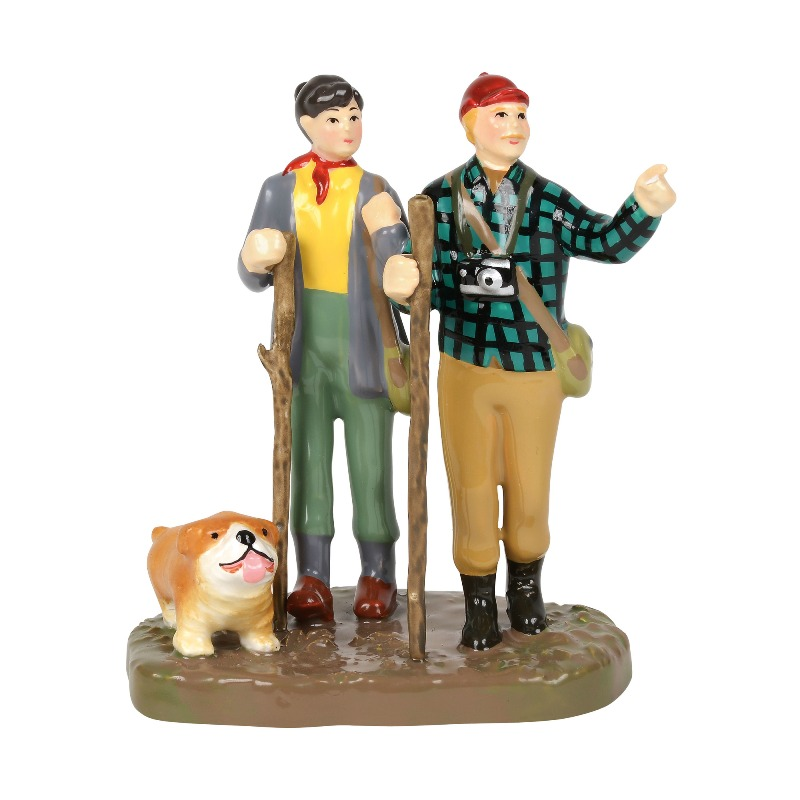 """Department 56 Snow Village Accessory- """"Trekking The Backcountry"""" 2018"""