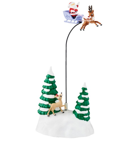 """Department 56 Snow Village Accessory - """"Up, Up & Away With Rudolph"""""""