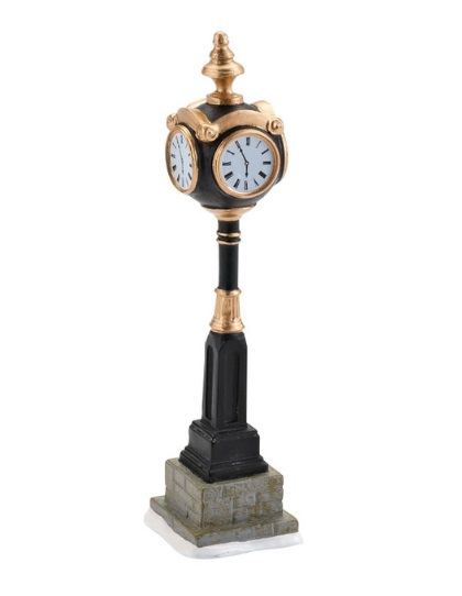 "Department 56 Snow Village Accessory - ""Uptown Clock"""