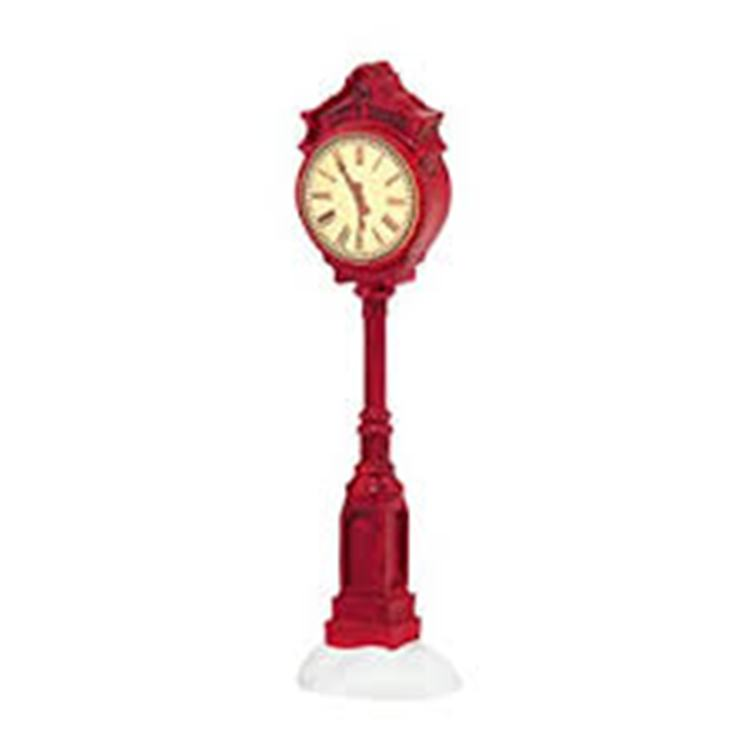 "Department 56 Village Accessory - ""Village Clock"""