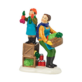 "Department 56 Snow Village Accessory - ""Winter Fun At The Market"""