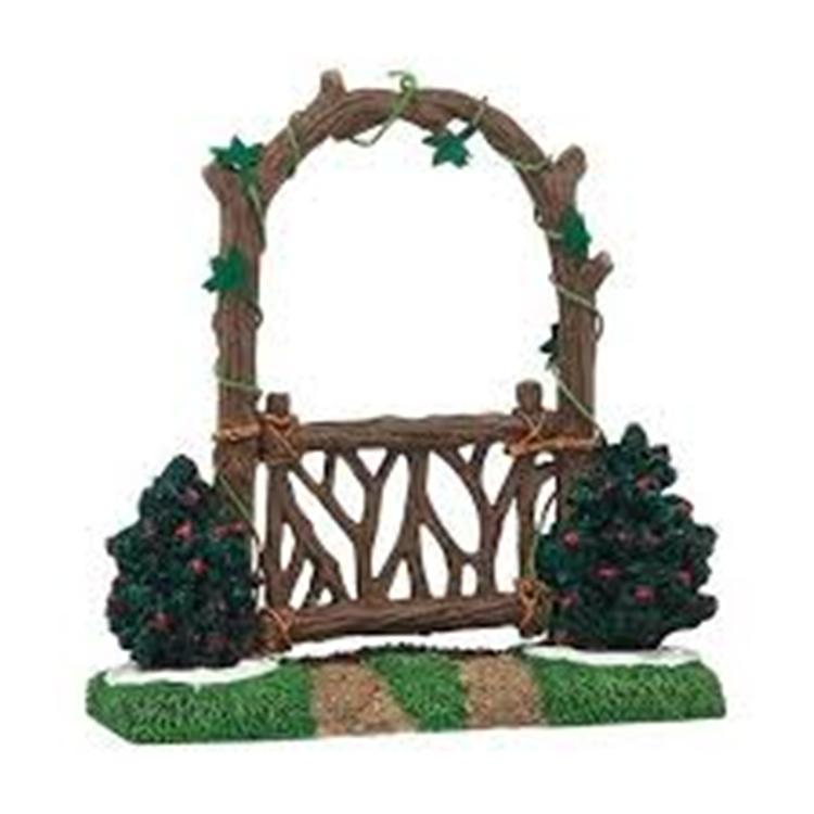 "Department 56 Village Accessory - ""Woodland Arbor Gate"""