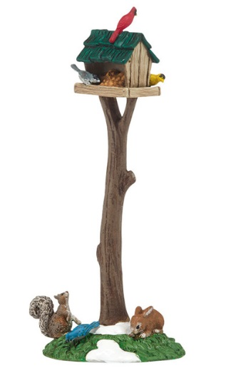 Department 56 Snow Village Accessory - Woodland Bird Feeder