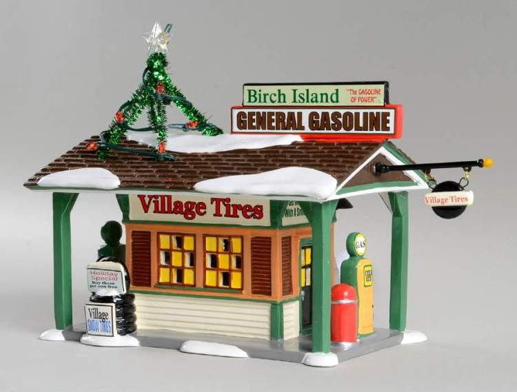 "Department 56 Snow Village - ""Birch Island Gas Station"""