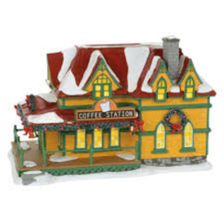 "Department 56 Snow Village - ""Coffee Station"""