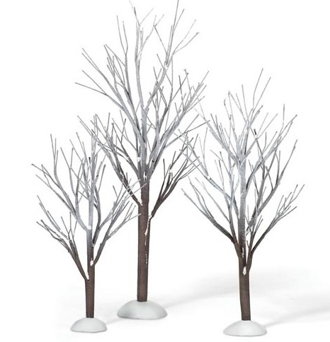 "Department 56 Snow Village  - ""First  Frost Trees"""