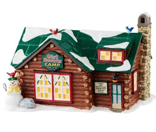 "Department 56 Snow Village - ""Girl Scouts Camp"""
