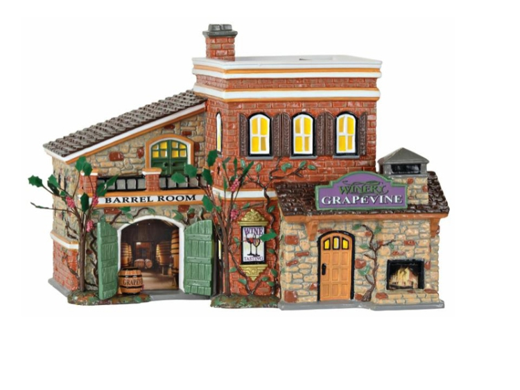 "Department 56 Snow Village - ""Grapevine Winery"""