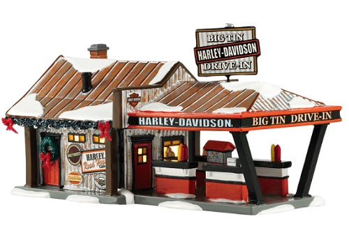 "Department 56 Snow Village - ""Harley Big Tin Drive-In"""