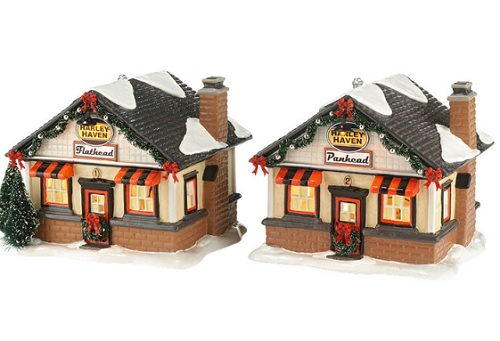 "Department 56 Snow Village - ""Harley Roadside Cabins"" - Set Of 2  - Retired 2013"