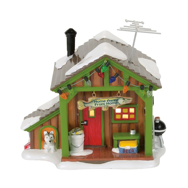 """Department 56 Snow Village - """"Home Away From Home Fish Shack"""""""