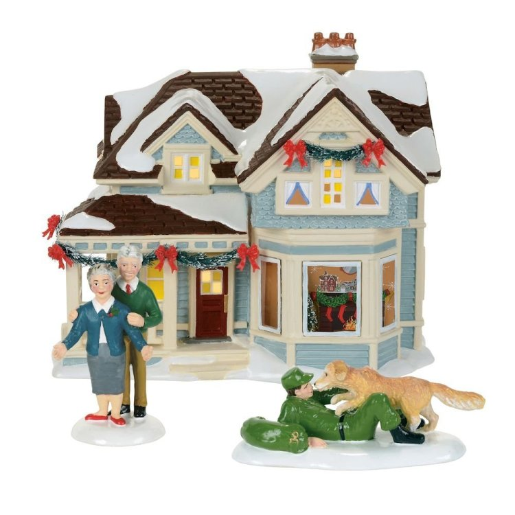 """Department 56 Snow Village - """"Home For Holidays"""""""
