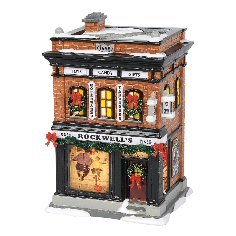 "Department 56 Snow Village - ""Rockwell 5 & 10"" 2018"