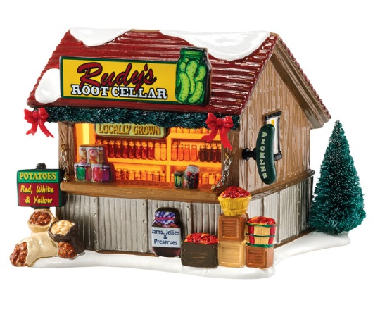 """Department 56 Snow Village - """"Root Cellar Canned Goods"""""""