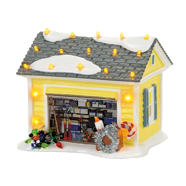 Department 56 Snow Village - Christmas Vacation - The Griswold Holiday Garage