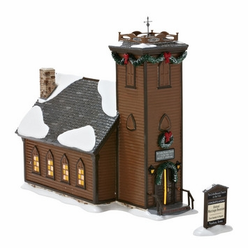 "Department 56 Snow Village  - ""The Little Brown Church In The Vale""  - Retired  2013"