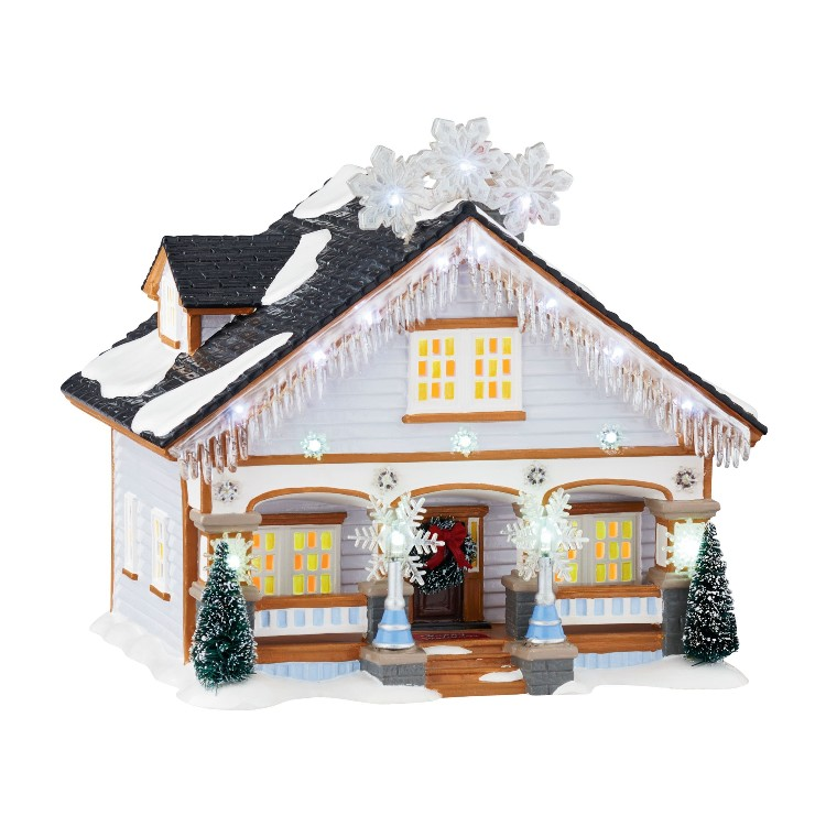 "Department 56 Snow Village - ""Snowflake House"""