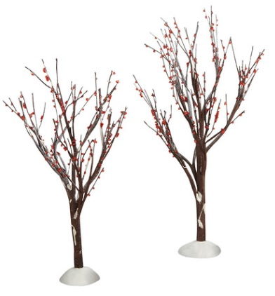 "Department 56 Snow Village - ""Winter Berry Trees"""
