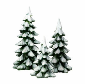 Department 56 Snow Village Accessory - Winter Pines Set of 3