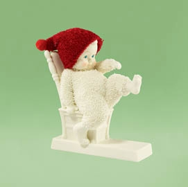 "Department 56 Snowbabies - ""Baby Needs New Shoes"""