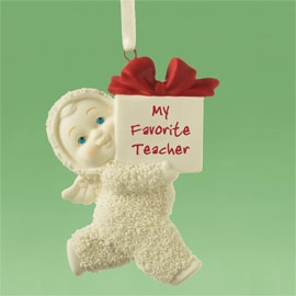 "Department 56 Snowbabies  -  ""My Favorite Teacher Ornament"""