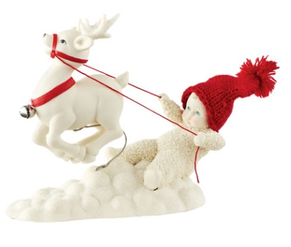 "Department 56 - Snowbabies - ""Reigning My Reindeer"""