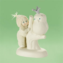 "Department 56 Snowbabies - ""Whoo Wears The Crown"""