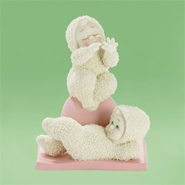 "Department 56 Snowbabies - ""You Work, I'll Count"" - Retired 2012"